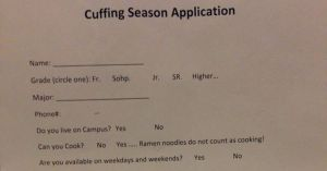 Cuffing-season-application