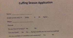 Cuffing-season-application